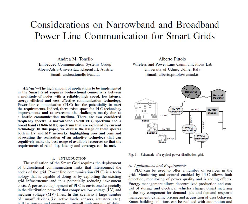 PLC for the grid: considerations